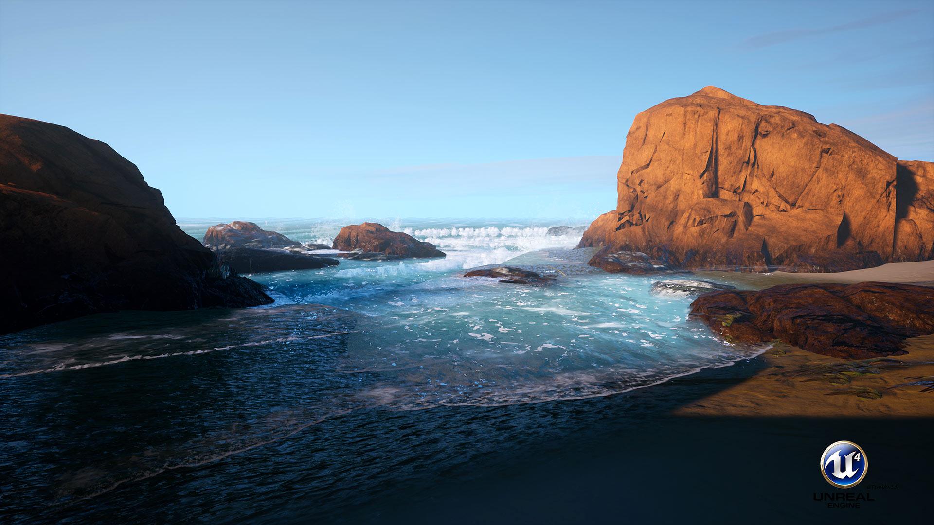 Creating a Realistic Ocean in UE4 | FlippedNormals - Bob Tomson; By Bob Tomson